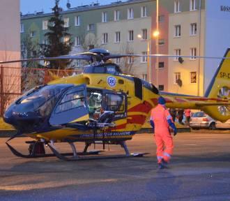 W środku blokowiska w Nysie wylądował śmigłowiec LPR. Zabrał poważnie ranne dziecko