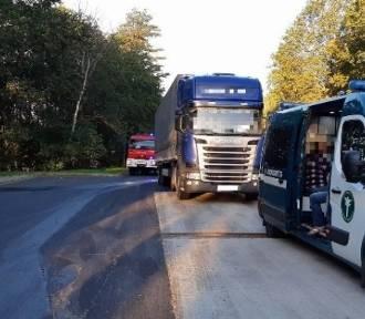 Łotewski kierowca prowadził ciężarówkę po pijaku!