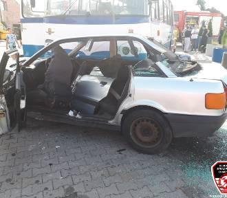 Wypadek autobusu, trzech samochodów i motoru przy obwodnicy Chojnic. Ćwiczenia służb
