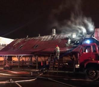 Pożar restauracji przy ul. Piłsudskiego w Hrubieszowie