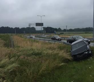 PILNE Wypadek na A1 w  Bełku FOTO internauty