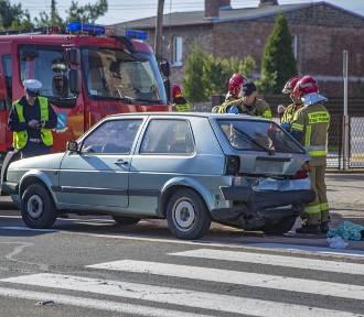 Wypadek w Jejkowicach: ranny kierowca chevroleta, który najechał na tył volkswagena