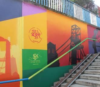 Nowy mural w Bytomiu. Nawiązuje on do górniczego rodowodu miasta