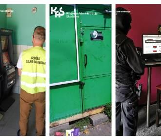 Nielegalne automaty w Pruszczu strzeżone przez elektroniczny zamek szyfrowy