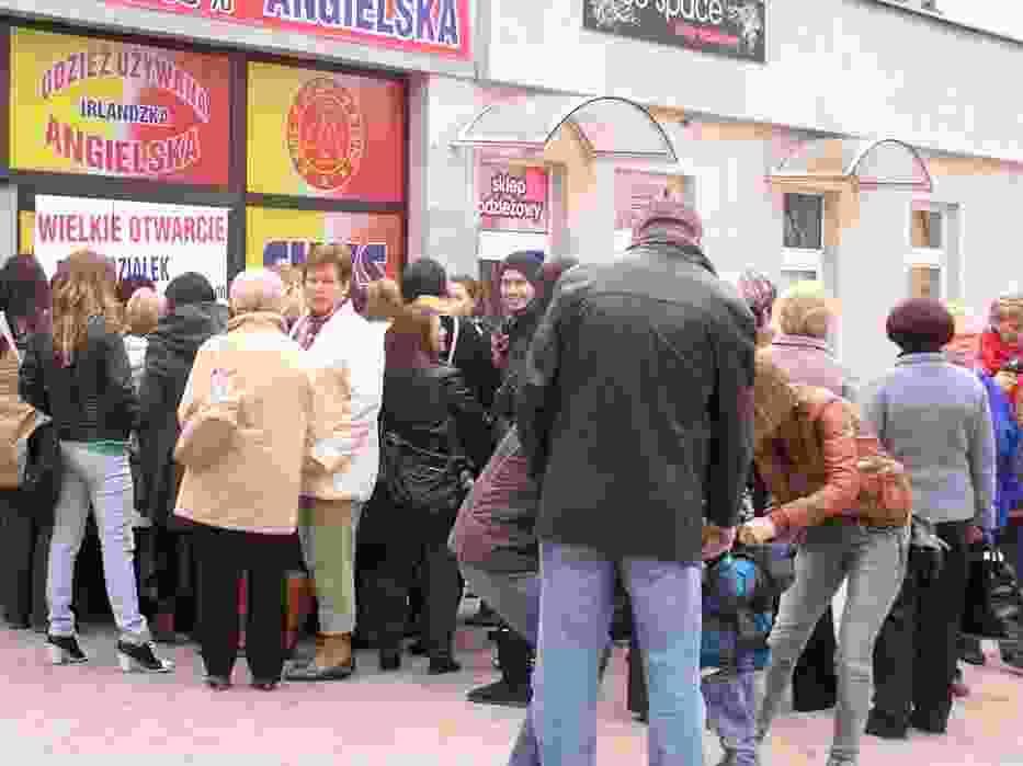Czwartego kwietnia, godzina 9 tłum czekał otwarcie nowego second handu w Elblągu
