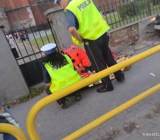 Wypadek w centrum Inowrocławia. Dwie osoby w szpitalu. Zobaczcie zdjęcia