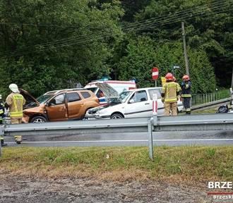 Wypadek w Czchowie. Dwie osoby ranne