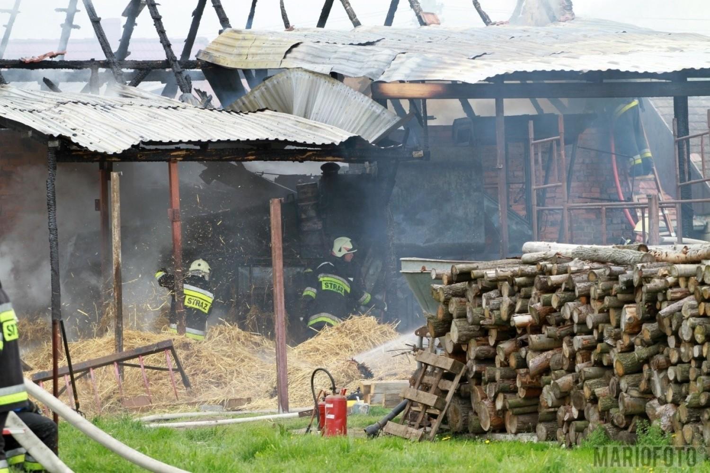 Pożar stodoły i chlewni w Kotorzu Małym