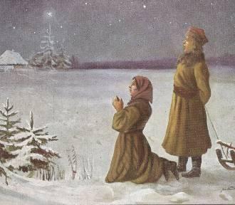 Pocztówki świąteczne z życzeniami z okazji Bożego Narodzenia z XX wieku