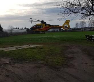 Helikopter LPR przetransportował poszkodowanego mężczyznę do szpitala
