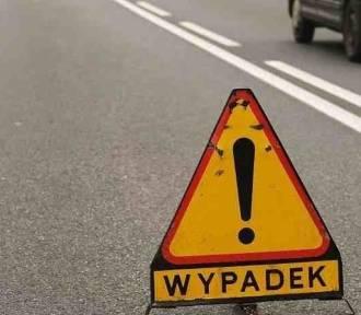 Zderzenie czterech samochodów na Podwal Grodzkim