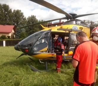 Wypadek rowerzystki w Żywcu. Lądował śmigłowiec LPR