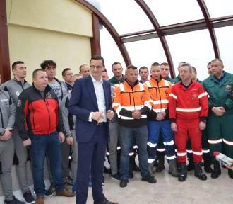 Premier Morawiecki dziękował ratownikom z KGHM
