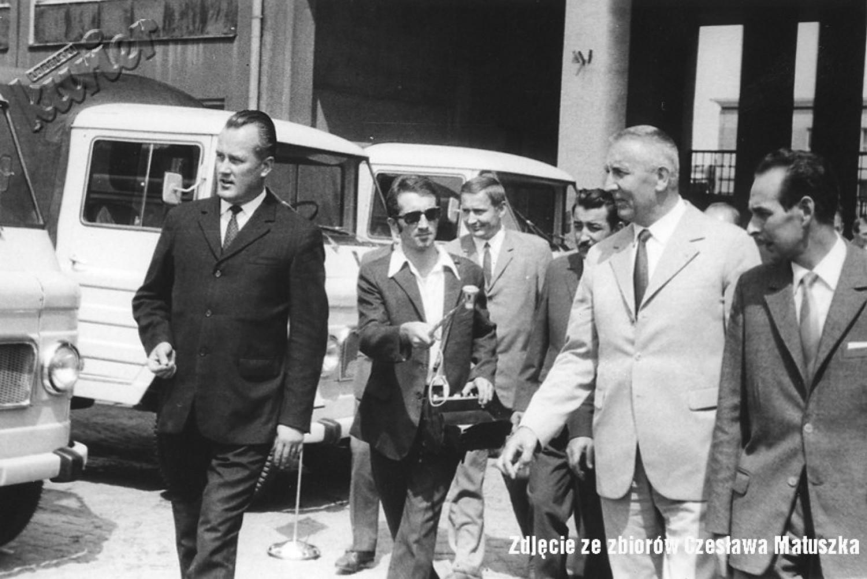 Edward Gierek w czasie wizyty w FSC