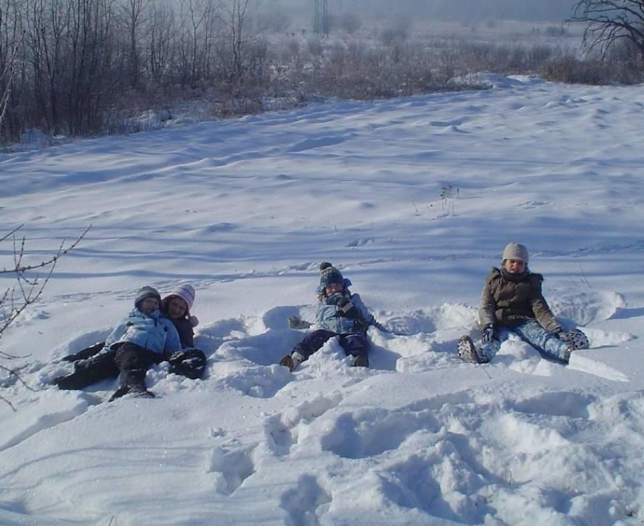 """""""Orły"""" na śniegu"""