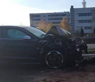 Wypadek na A4 na wysokości IBM w Katowicach. Droga zablokowana