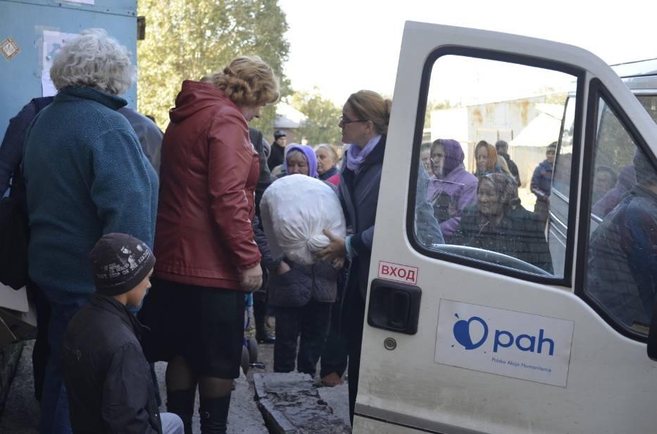Dystrybucja żywności i artykułów pierwszej potrzeby na Ukrainie.