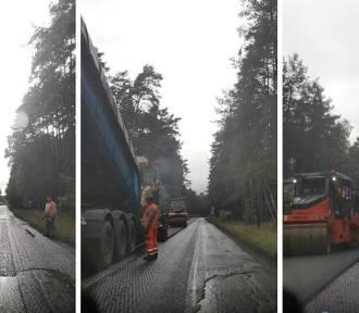 Droga z Bytowa do Chojnic będzie bezpieczniejsza. Trwa remont nawierzchni