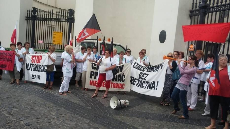 sprzątaczki bełchatów protest