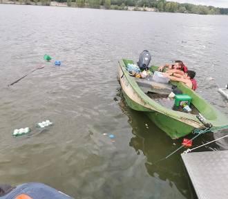 WOPR ratował wędkarzy na Jeziorze Nyskim. Ich łódź wywróciła się do góry dnem