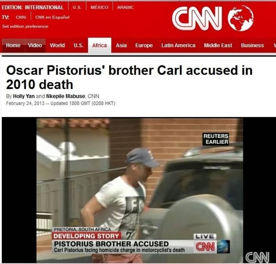 Brat Pistoriusa, Carl oskarżony o śmierć kobiety