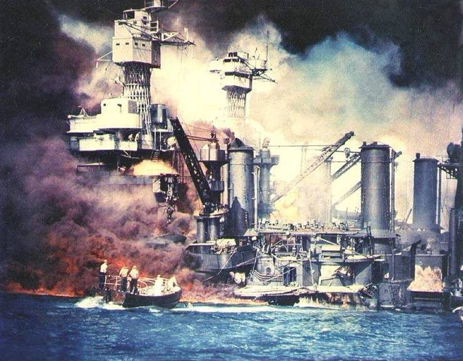 Stosunkowo najmniej ucierpiał pancernik USS West Virginia, pomimo kilkukrotnych trafień torpedami i bombami