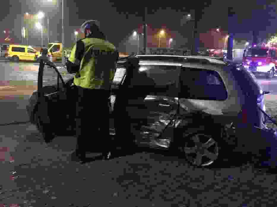 Wypadek w Koninie na ul. Popiełuszki.