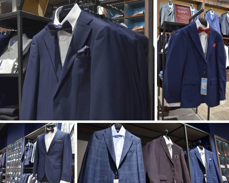 W Lancerto młodzi mężczyźni najczęściej wybierają garnitury klasyczne, w kolorze granatu oraz czerni