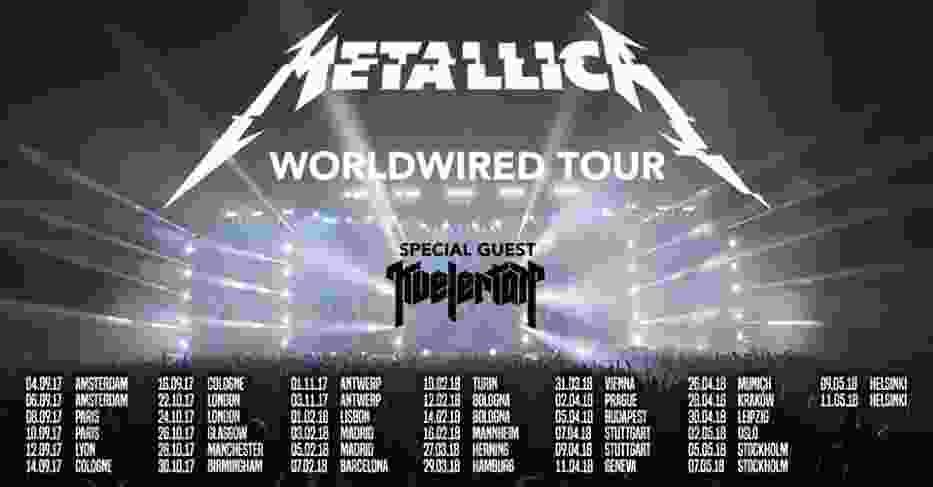 Metallica - trasa koncertowa 2018