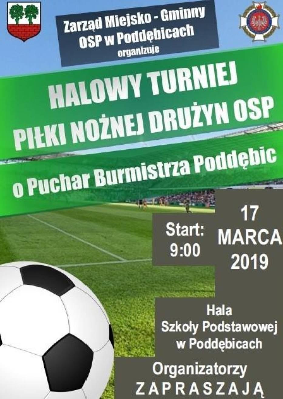 X Halowy Turniej Piłki Nożnej OSP o Puchar Burmistrza Poddębic