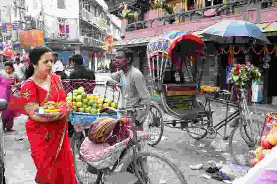 Ulice Kathmandu tryskają życiem