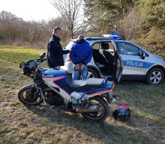 Motocyklista uciekał przed policją w Zbąszynku