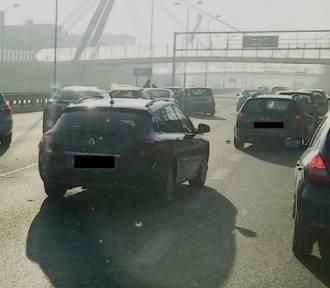 Karambol 8 samochodów na DTŚ [ZDJĘCIA]. Droga była zablokowana