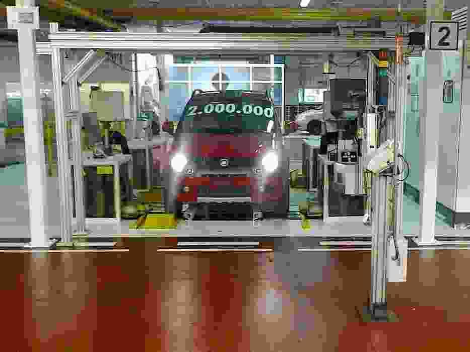 Fiat Panda zjeżdża ze stanowiska diagnostycznego