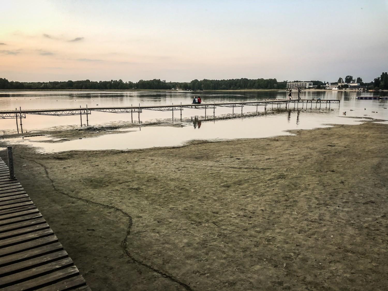 Plaża pudełlkowo koniec września 2020
