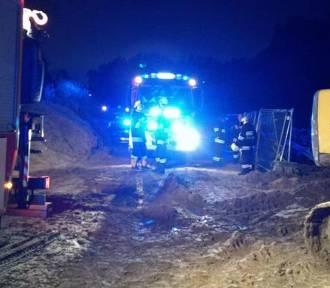 W miejscu gdzie powstaje gazociąg, ciężko ranny został mężczyzna