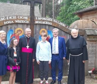 Na Świętej Górze Polanowskiej uczniowie z Borkowa spotkali się z metropolitą Bambergu