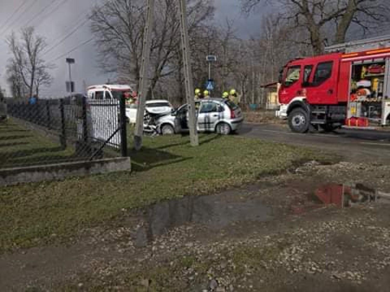 Na miejscu pojawiły się dwa zastępy straży pożarnej