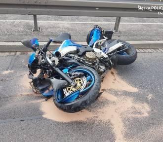 Wypadek na estakadzie w Chorzowie. Nie żyje mężczyzna