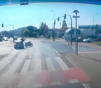Koszmarny wypadek w Poznaniu. Przejechał na czerwonym i potrącił motocyklistę