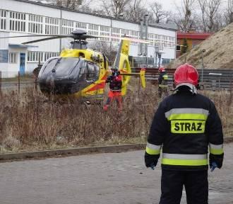 Groźny wypadek we Wrocławiu. Rannego zabrał helikopter (ZOBACZ ZDJĘCIA)