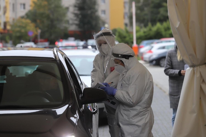 Punkt poboru wymazów do testów na koronawirusa, Katowice