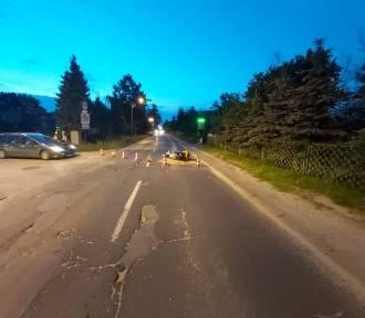 Pijany motocyklista spowodował wypadek na ul. Pomorskiej