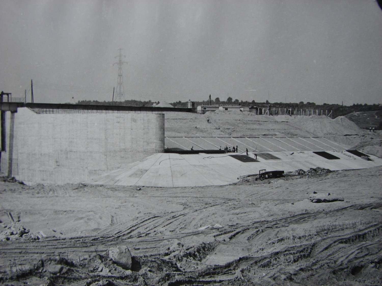 Kolejne zdjęcie z placu budowy zapory włocławskiej