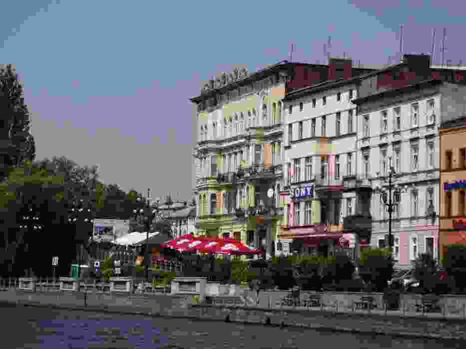 Bydgoszcz widziana od strony rzeki