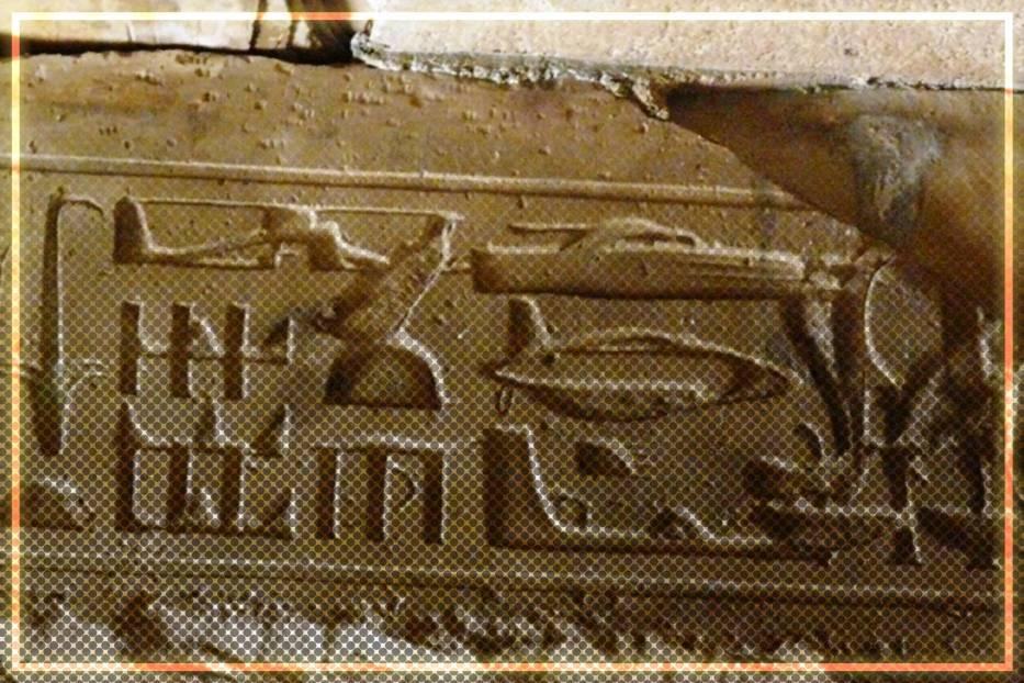 Na niektórych z egipskich hieroglifów widoczne są dziwne obiekty latające