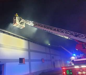 Pożar w Boronowie. W ogniu stanęła hala stolarni
