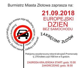 """Europejski Dzień Bez samochodu pod hasłem """"Zakręcony Złotów"""""""