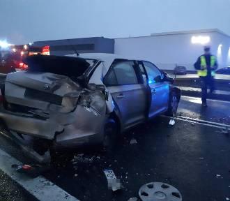 Gmina Rakoniewice: Cztery samochody zderzyły się na DK 32! ZDJĘCIA