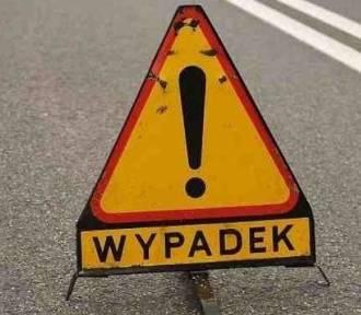 Wypadek na obwodnicy Ostrowa Wielkopolskiego. Spłonął motocyklista